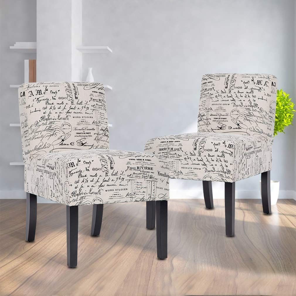 Accent Chair Armless Chair Dining Chair Set Of 2 Elegant Design Modern Fabric Living Room Chairs Sofa Find Out More About In 2020 Chair Accent Chairs Armless Chair