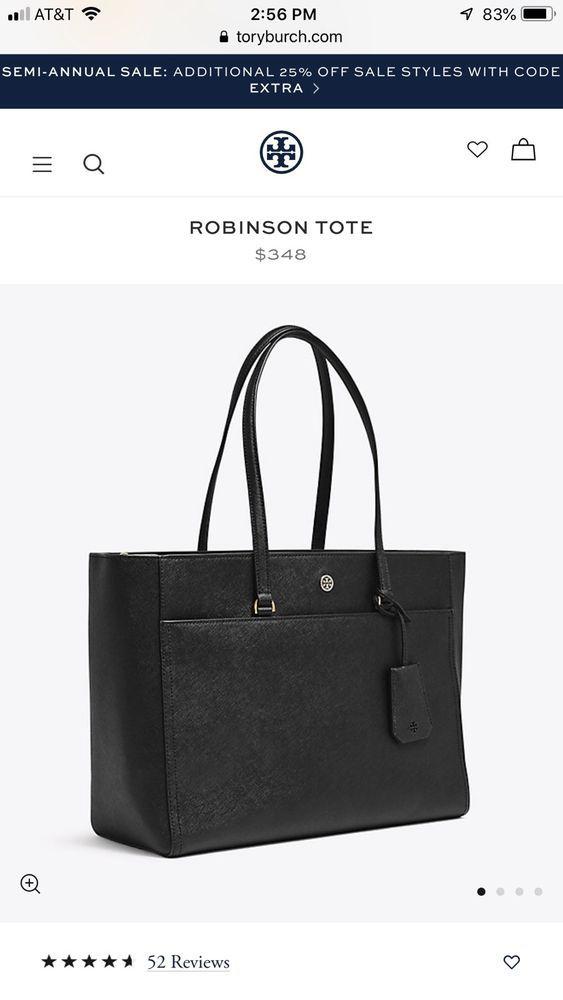 Tory Burch Robinson Tote Fashion Clothing Shoes