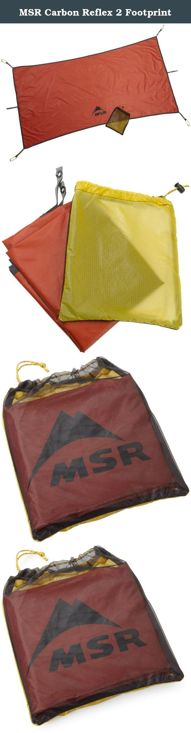 MSR Carbon Reflex 2 Footprint. MSR footprints protect tent floors from sharp objects and ground & MSR Carbon Reflex 2 Footprint. MSR footprints protect tent floors ...