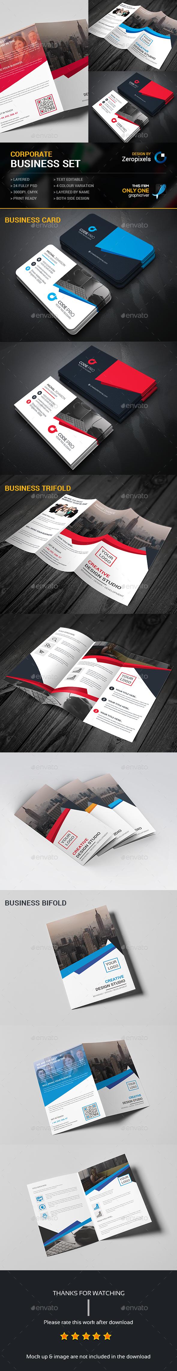 corporate brochures bundle business card