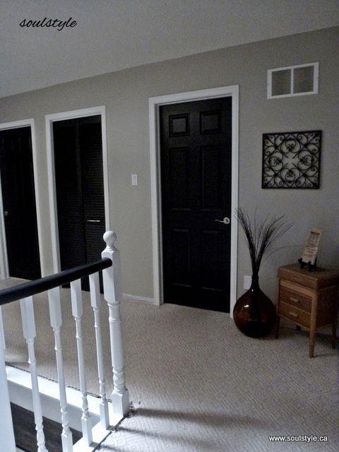 Second Floor Black Interior Doors Ive Been Wondering How This Would
