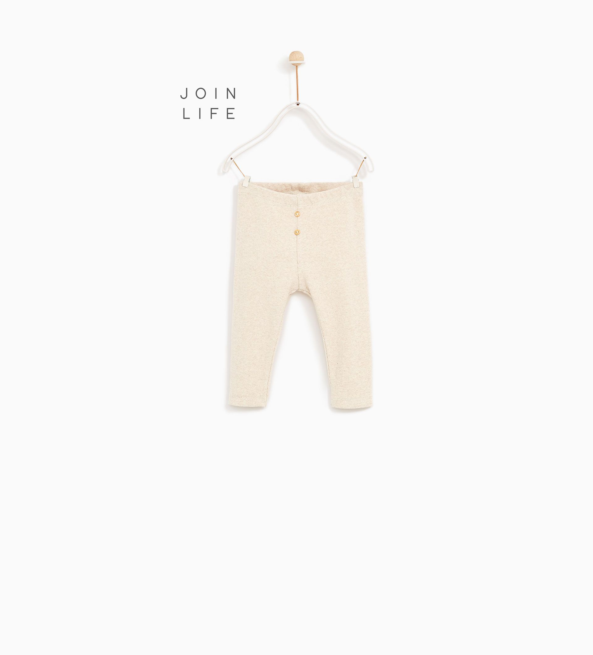 0829be538ca38 RIBBED LEGGINGS-SKIRTS AND TROUSERS-BABY GIRL | 3 months - 4 years-KIDS |  ZARA United States