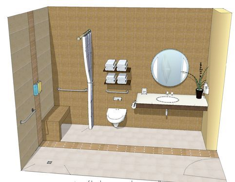 Residential Barrier Free Bathrooms #BarrierFreeBathrooms >> Learn more  about accessible bathroom designs at http