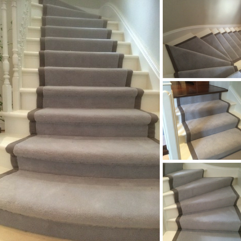 Installing Carpet Runner To Stairs In West London