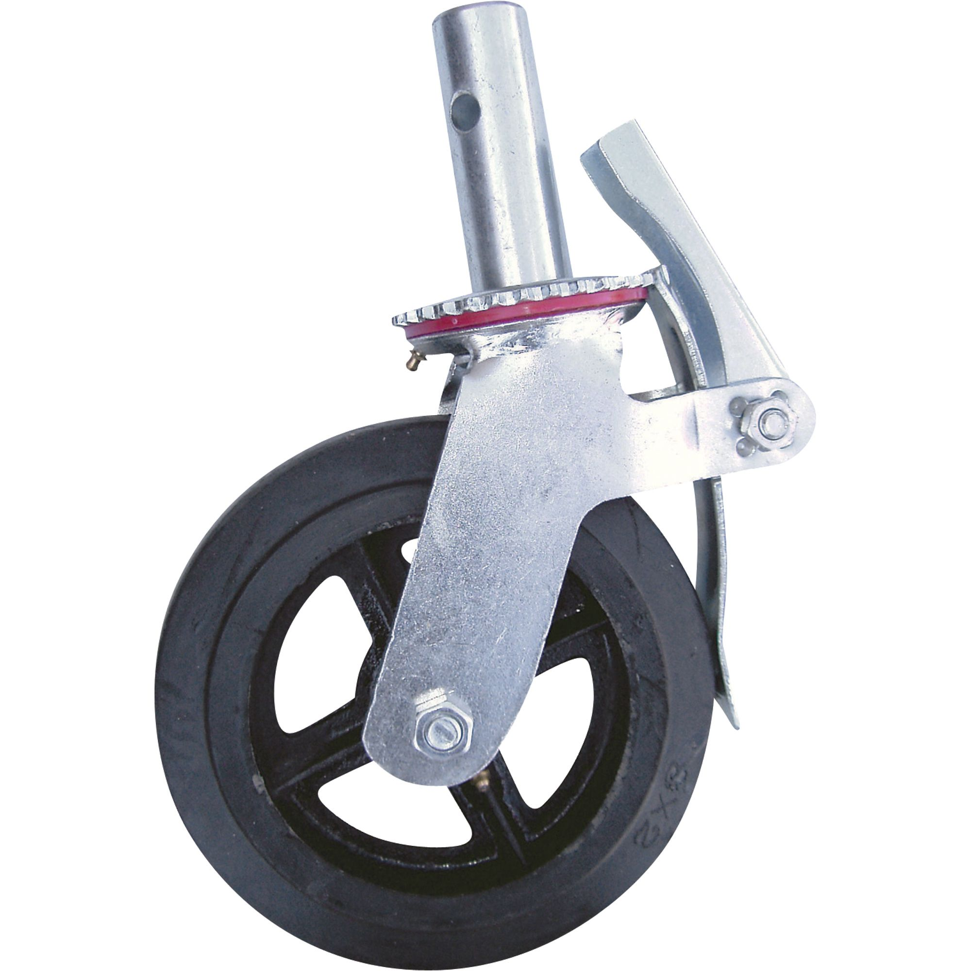 Metaltech Heavy Duty Caster with Foot Brake — 8In Model M MBC8