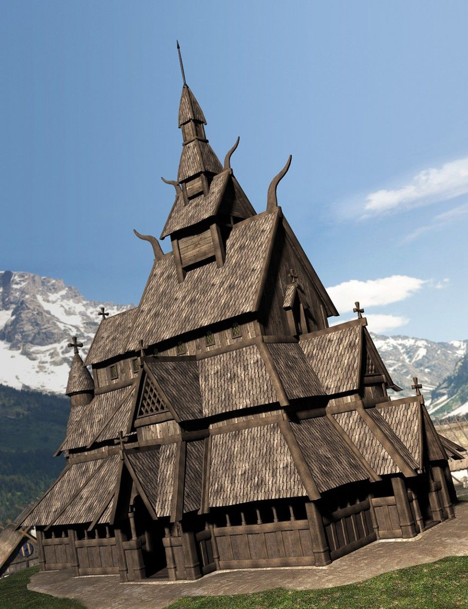Viking Village Viking House Viking Village Scandinavian Architecture