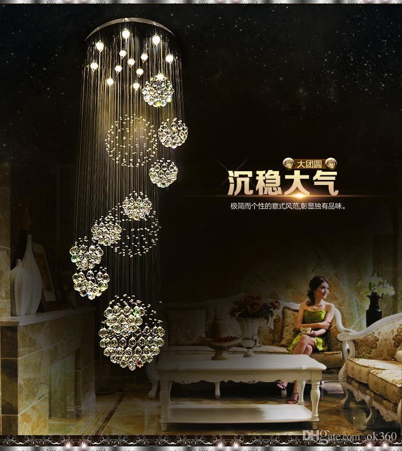 modern pendant lamp galss ball pendant lights foyer long spiral