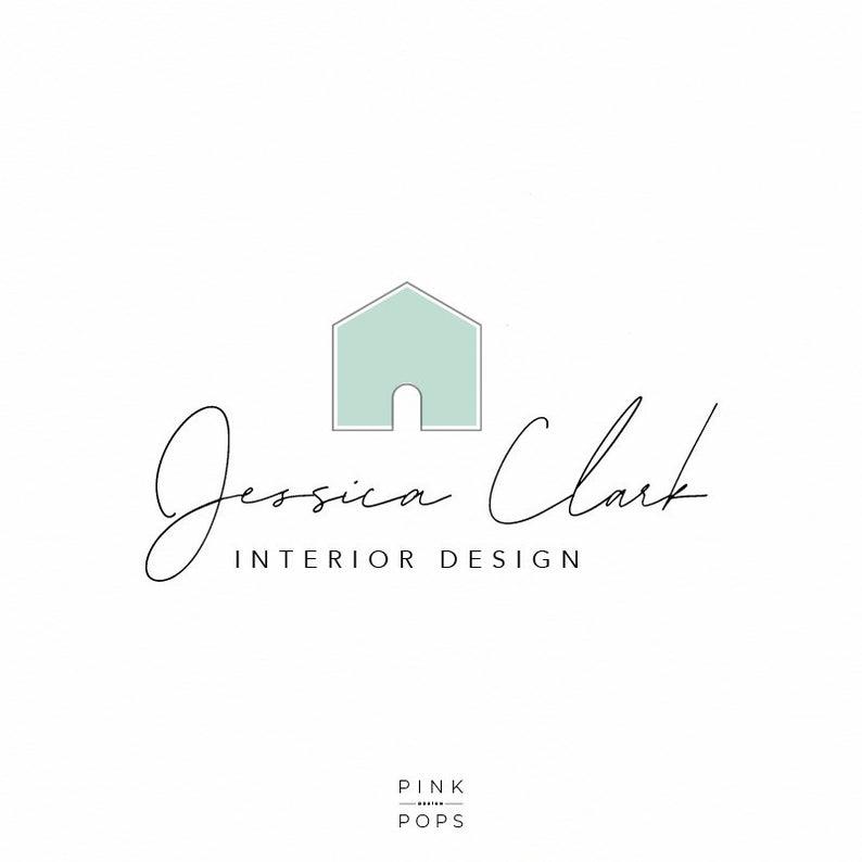 Interior Design Logo Home Decor Logo Home Staging Logo Etsy In 2021 Interior Designer Logo House Logo Design Logo Design