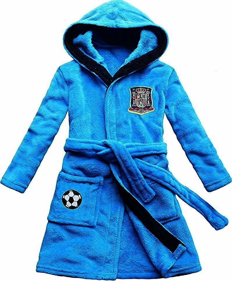 boy bathrobe coral velvet Spanish soccer team emblem embroidery blue childrens robein Robes from Mother  Kids on  Alibaba GroupFEETOO new boy bathrobe coral velvet Spanis...