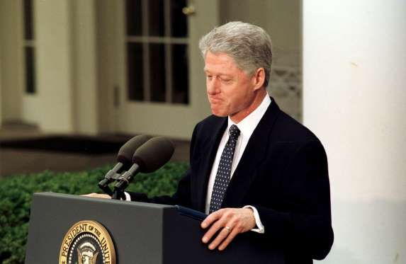 Image result for president bill clinton acquitted by the u.s. senate in 1999