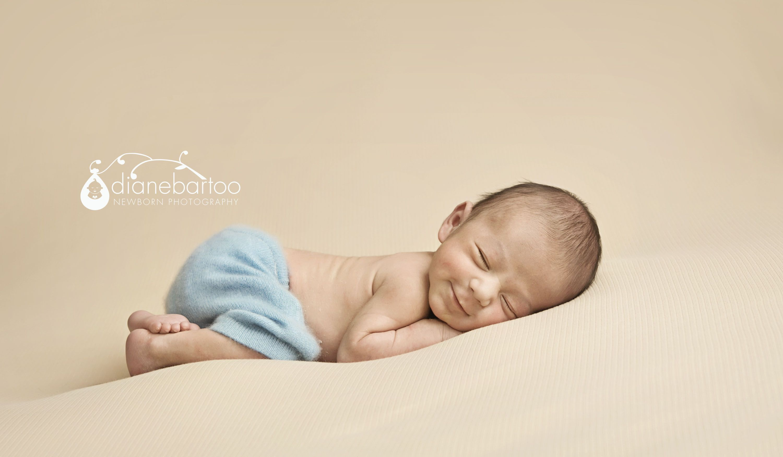 Newborn Boy Photos | Precious Newborn Pictures | Smiling Newborn Photos | Riverside Newborn Photography | Adorable Newborn Boy | Riverside, CA