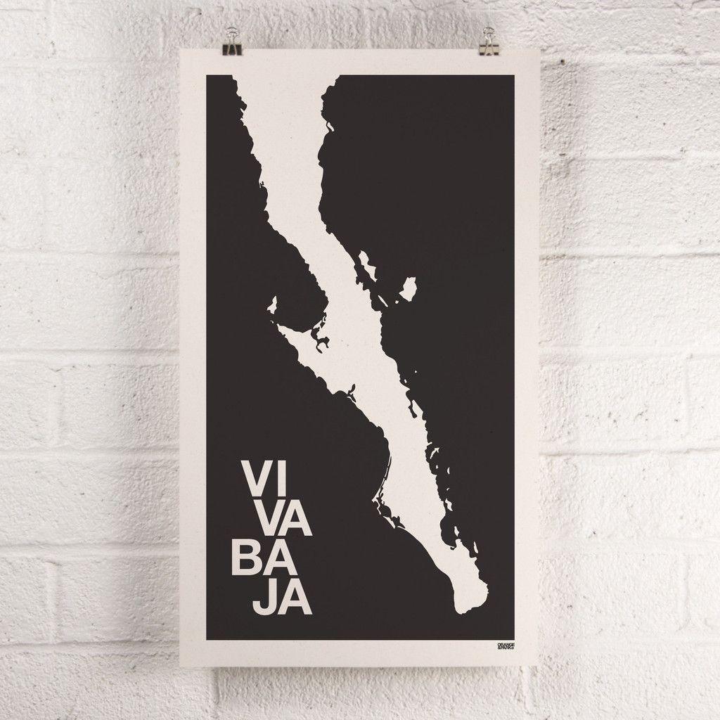 Black Viva Baja Print