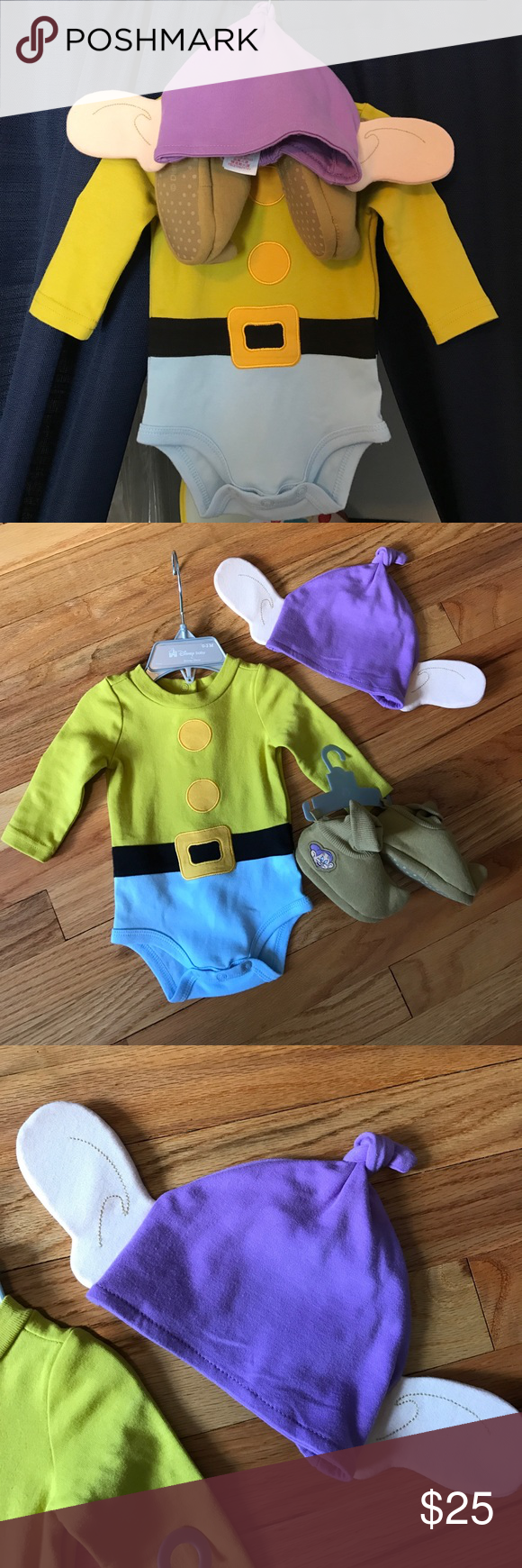 23f161132 Baby's first Halloween costume - Dopey Authentic Disney Store Dopey  Halloween costume. Worn for pictures and was so sweet on! Onesie is 0-3  months and shoes ...