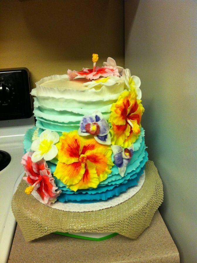 Hawaiian Theme Cake Google Search Food Pinterest