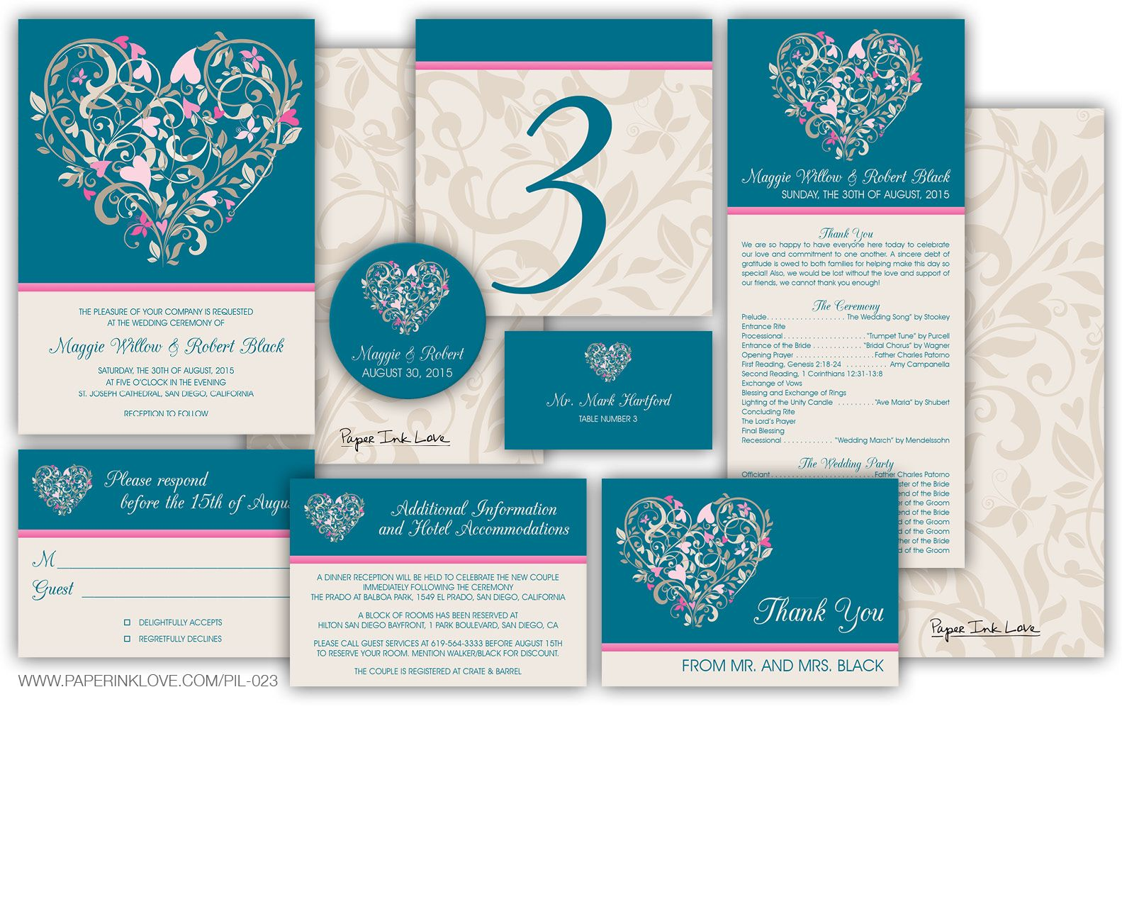 Beautiful diy wedding invitation collection by paper ink love style