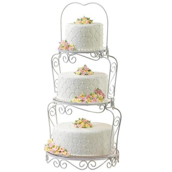 wilton tortenst nder f r 3 torten 3 etagen graceful tier cake stand hochzeit. Black Bedroom Furniture Sets. Home Design Ideas