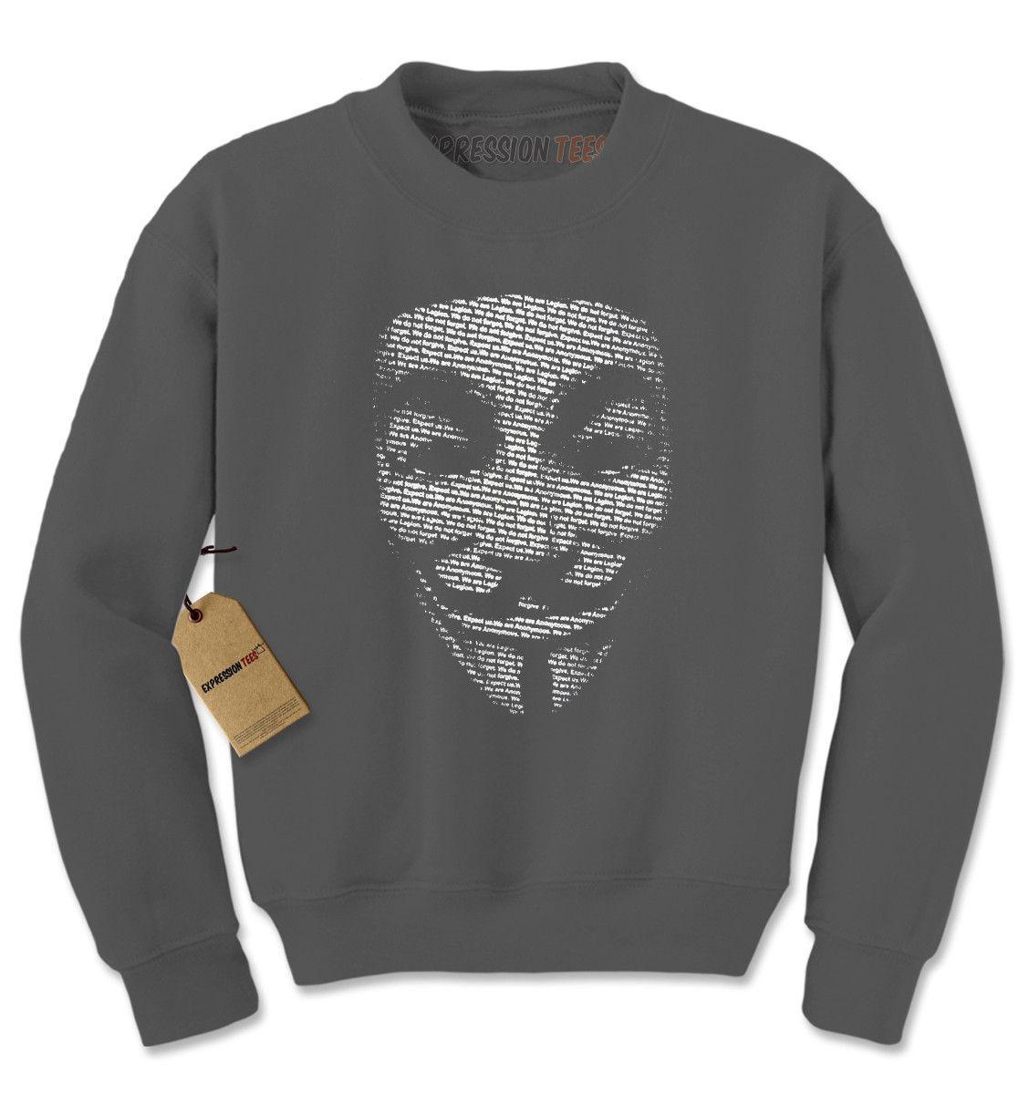 V for Vendetta / Guy Fawkes Mask Adult Crewneck Sweatshirt
