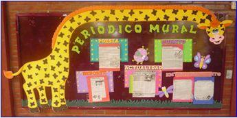 Periodicos murales creativos preescolar buscar con for Estructura de un periodico mural escolar