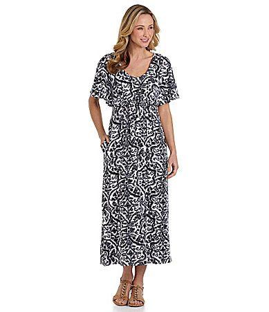 Cabernet Casuals Rayon Spandex Patio Dress Dillards