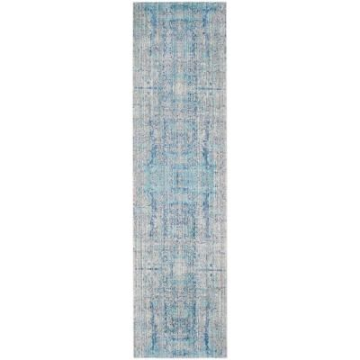 Safavieh Mystique Light Blue Multi 2 Ft X 12 Ft Runner Rug Light Blue Area Rug Rug Runner Blue Area Rugs