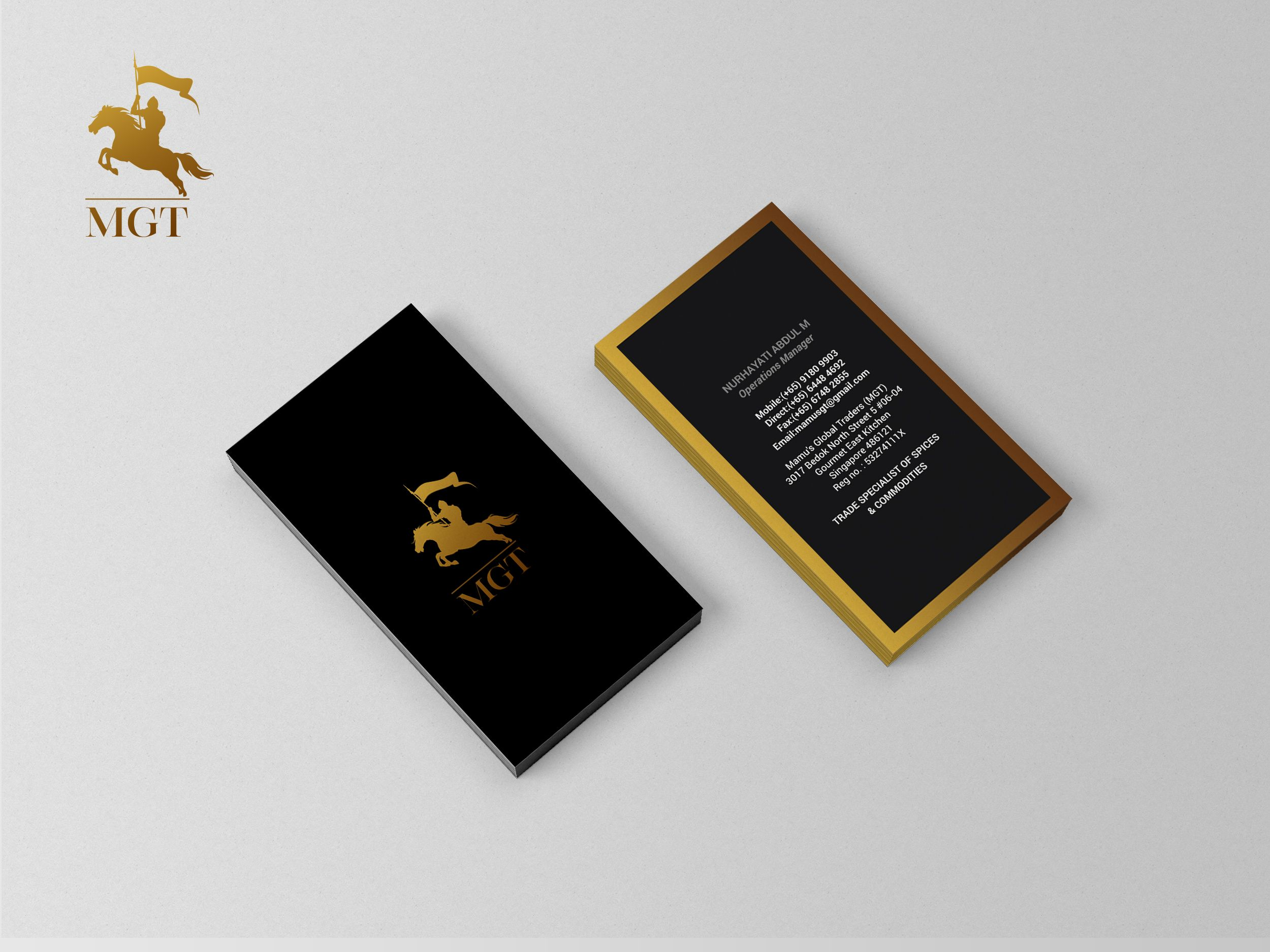 Logo Design Business Card Design For Mgt Trading Brand Identity