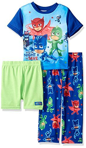 PJ MASKS Toddler Boysu0027 3 Piece Pajama Set, Color NIGHT WARRIOR BLUE,