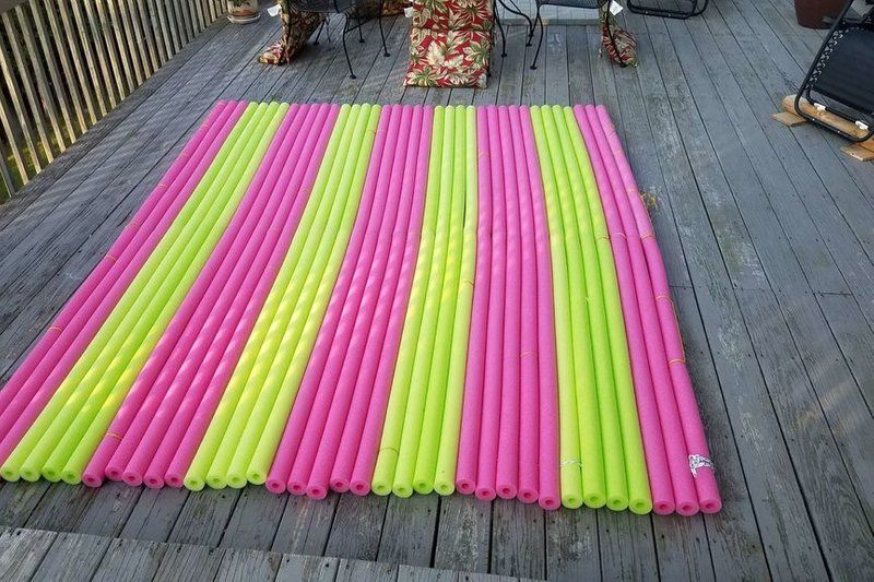 Floating Wet Lounger Water Pad Raft For 6 Under 100 Water Pad Floating Mat Diy Pool