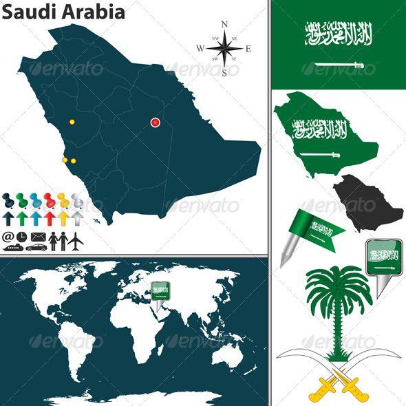 Map Of Saudi Arabia Map Vector Map Saudi Arabia