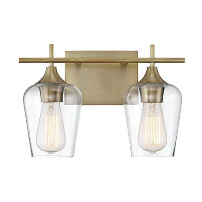 Zipcode design staci 2 light vanity light wayfair