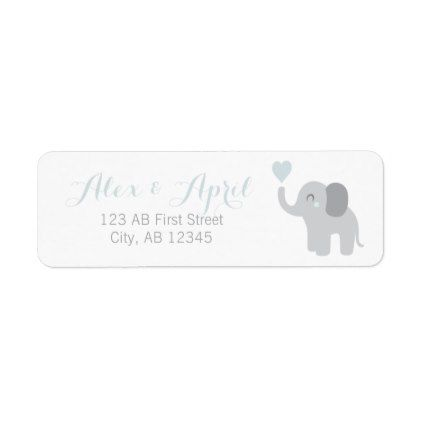 return label baby announcement boy elephant heart return address labels label diy personalize cyo unique