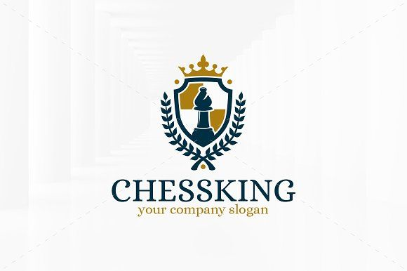 chess king logo template logo templates crest logo and