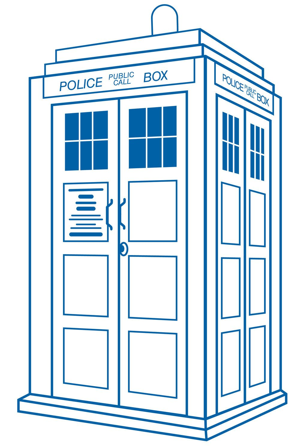 Tardis clipart clipart best clipart best for Tardis template for cake