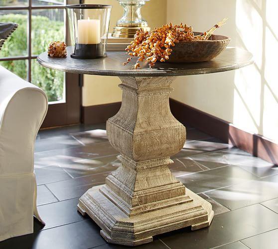 Silvia Large Pedestal Table | Pottery Barn