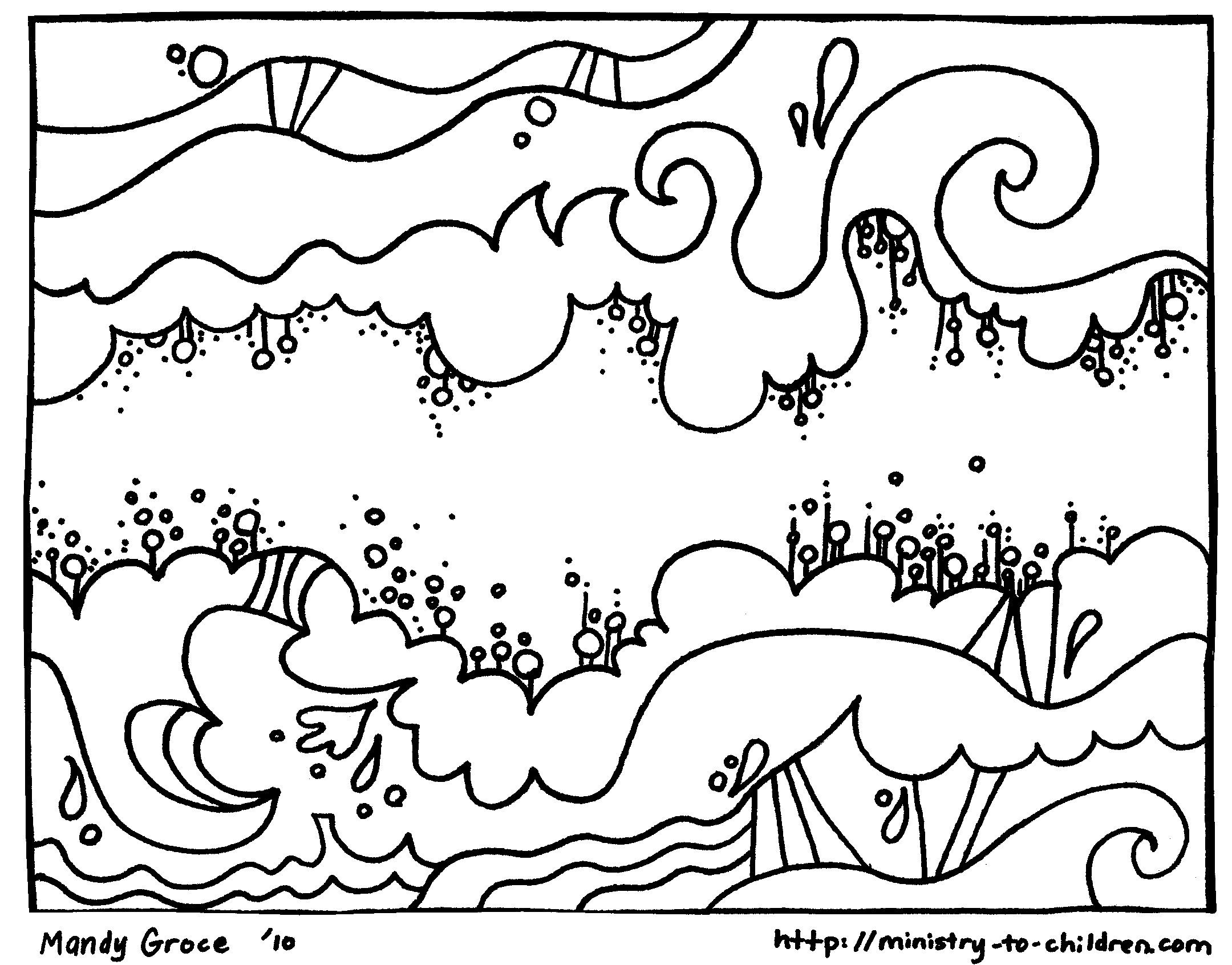 Free Creation Coloring Pages God Made The Sky
