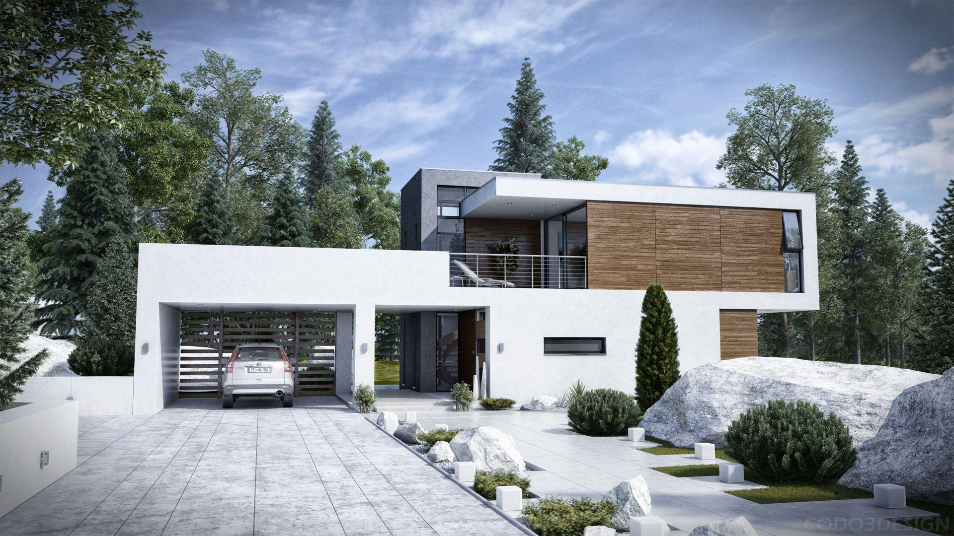Of a modern house hd wallpaper