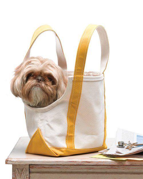 Canvas Tote Doggie Bag Dog Tote Bag Dog Bag Dog Sling