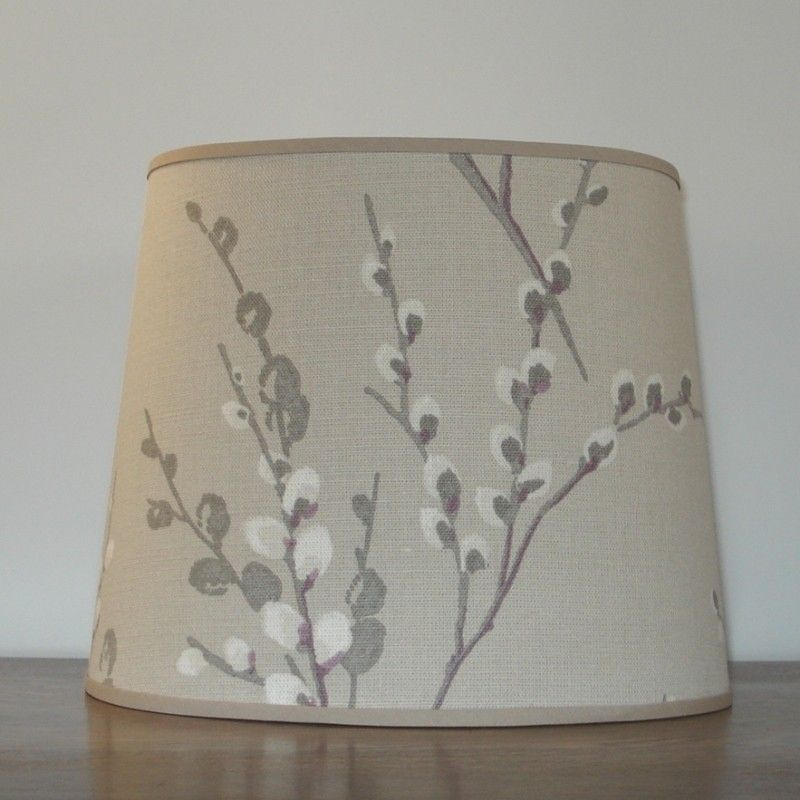 Laura Ashley Pussy Willow Natural - 11inch Handmade Oval Lampshade ...