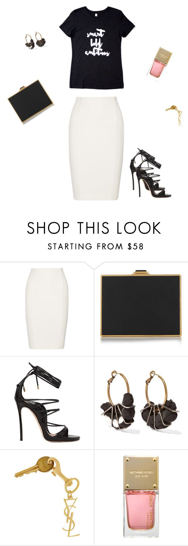 """#48"" by dsrapparel ❤ liked on Polyvore featuring Tart, Alexander McQueen, Dsquared2, Lanvin, Yves Saint Laurent and Michael Kors"