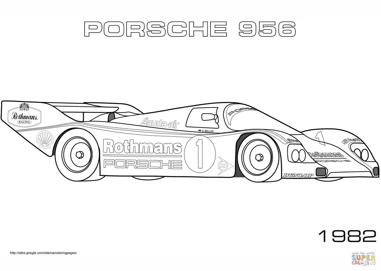 Kleurplaten Autos Porsche.Kleurplaat Porsche