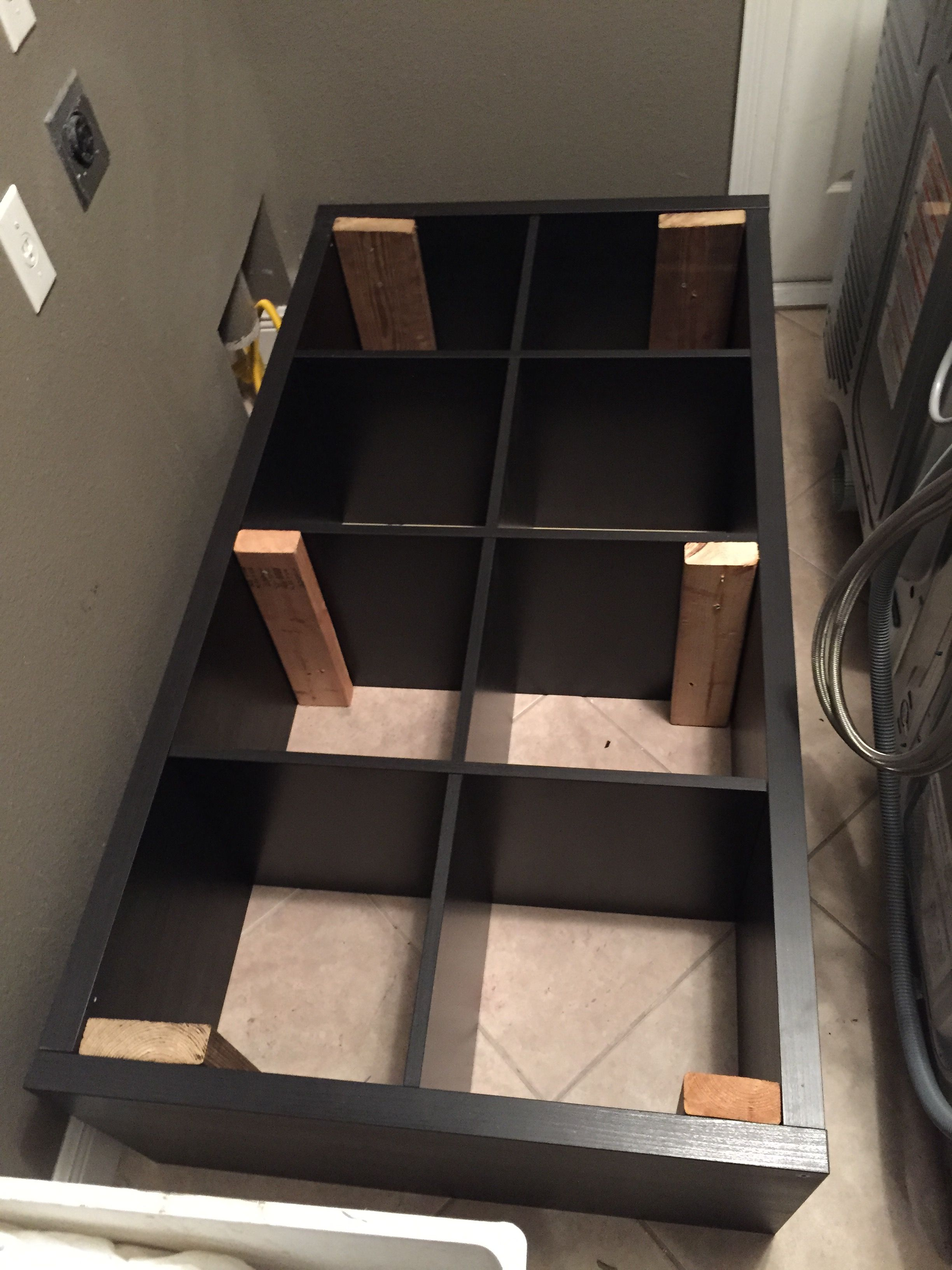 Converting An Ikea Kallax Book Shelf Into A Washer Dryer Pedestal Laundry Room Design Washer And Dryer Pedestal Kallax Ikea