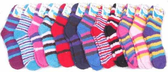 I'm selling Ladies Fuzzy Socks with Stripes   120 pairs in a case - $199.99 #onselz
