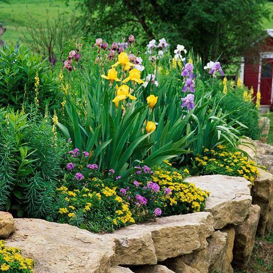 Ideen Gartenmauer Naturstein Grosse Steine Garten Pinterest Gardens