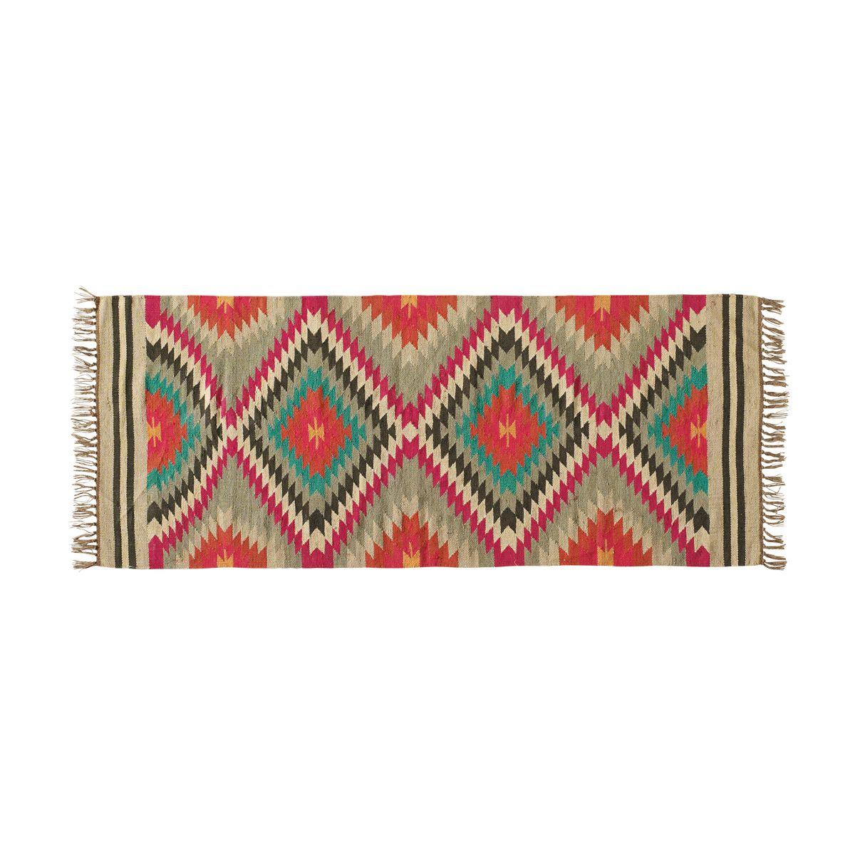ACAPULCO woollen woven rug, multicoloured 80 x 200cm | Maisons du ...