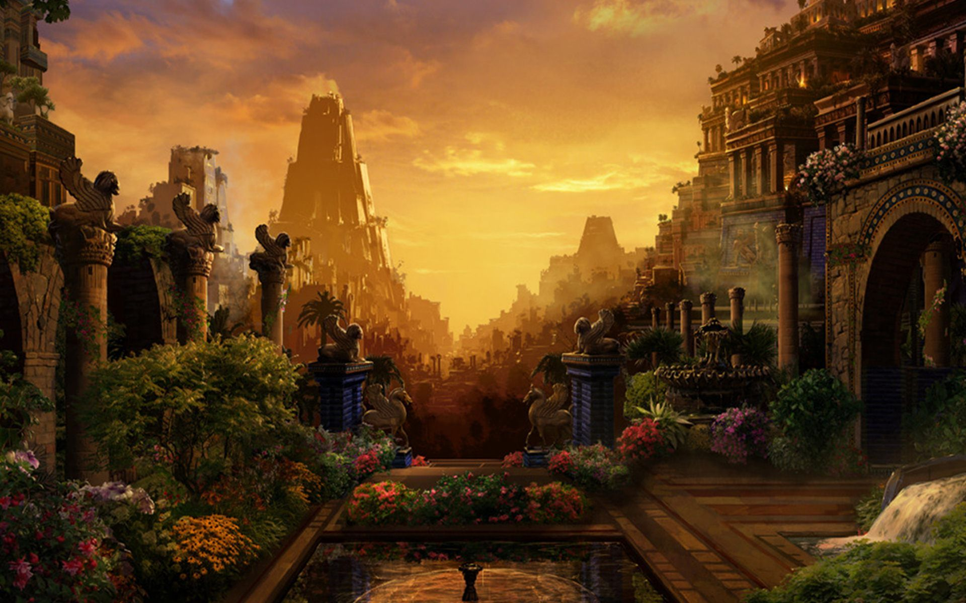 Hanging Gardens Of Babylon | Ancient World~ | Pinterest | Gardens ...