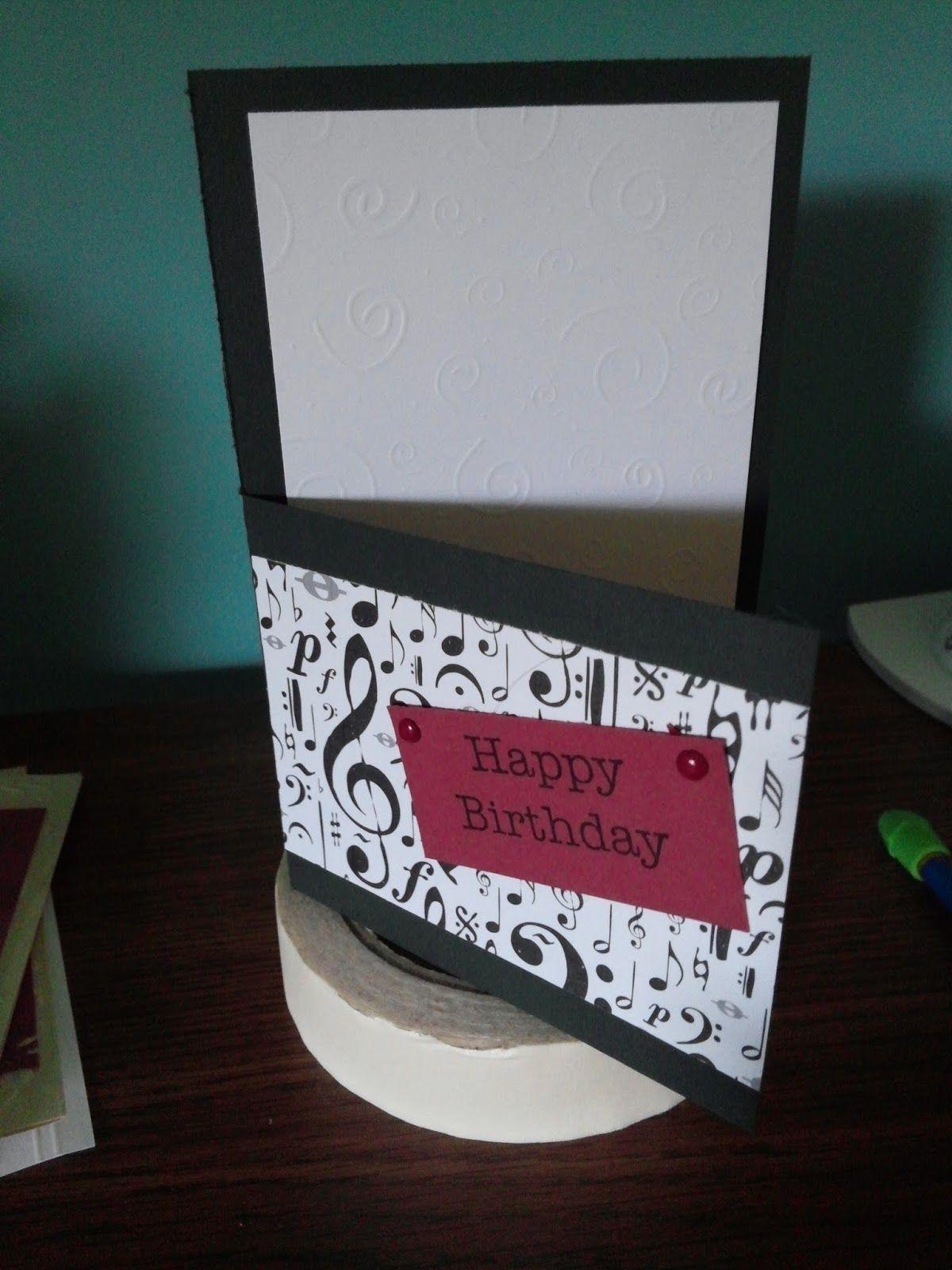 Sheryl's Crafting Corner: Half panel masculine birthday card