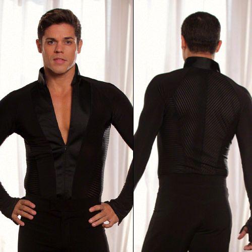 Mandarin Stripe Inset Shirt Mens shirts Mens clothes [MS21] - $179.00  Latin dance wear ...