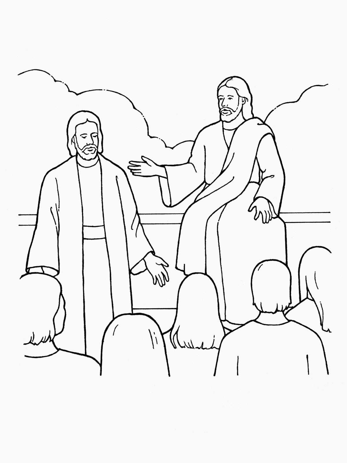 January Sharing Time WK 1 Jesus coloring pages, Bible