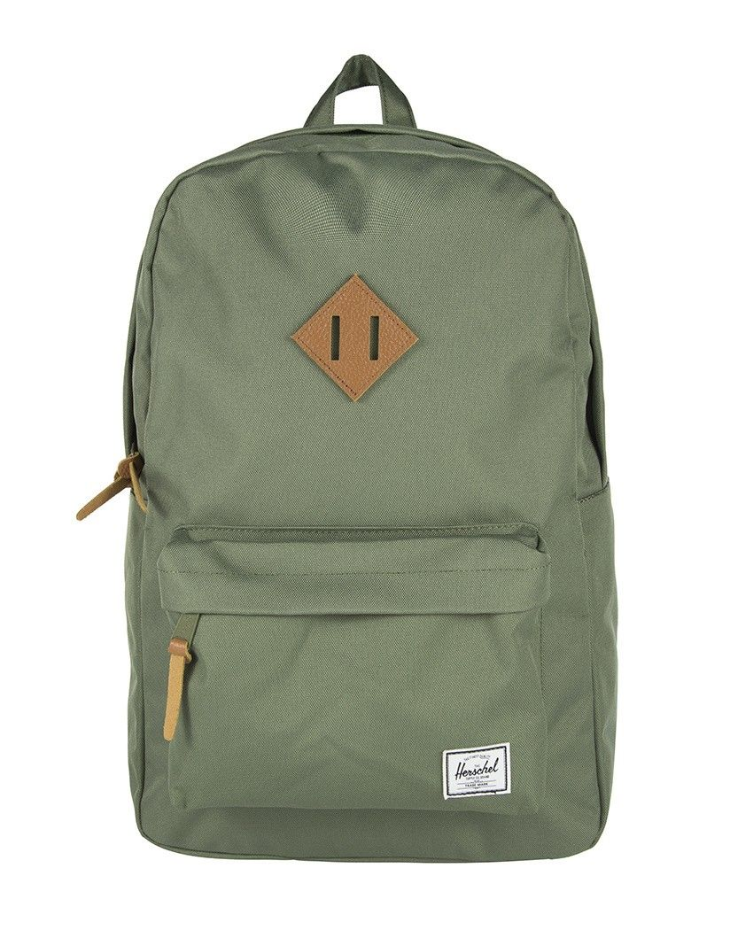 47d315b3eac0a Herschel Heritage Backpack - Deep Litchen Green Tan Leather - Men