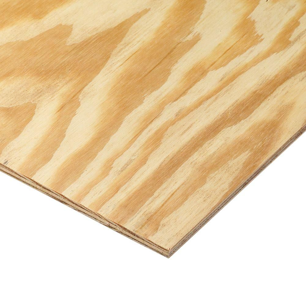 11 32 In X 4 Ft X 8 Ft Rtd Southern Yellow Pine Plywood Sheathing 24x24 Pine Plywood Plywood Sheets Plywood Siding