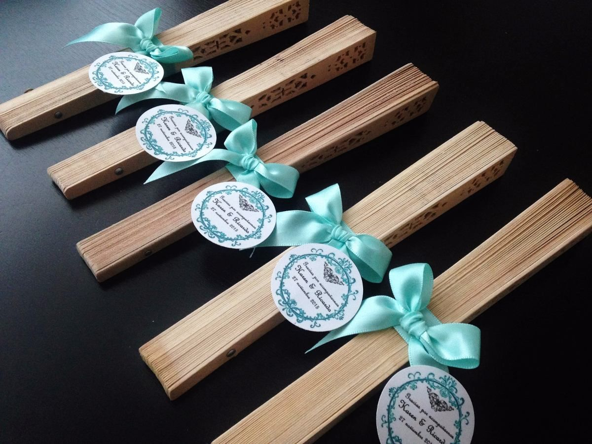 Abanicos de madera boda xv a os bautizo baby shower 16 for Decoracion con abanicos